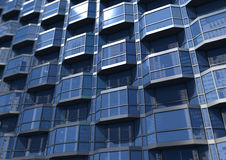 A section of a glass building Stock Photography