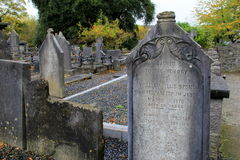 Section of graveyard surrounding historic St.Mary's Cathedral, Limerick,Ireland,2014 Stock Photography