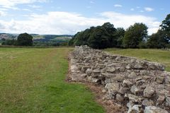 Section of Hadrians wall. A crumbling section of Hadrians wall Royalty Free Stock Photos