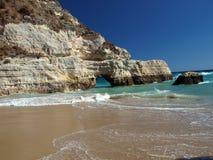 A section of the idyllic Praia de Rocha beach Stock Image