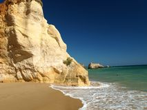 A section of the idyllic Praia de Rocha beach Royalty Free Stock Photo