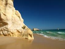 A section of the idyllic Praia de Rocha beach Royalty Free Stock Photography