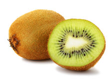 Section kiwi fruit Stock Photography