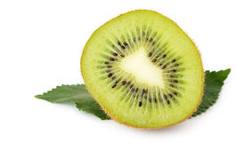Section kiwi fruit Royalty Free Stock Photos