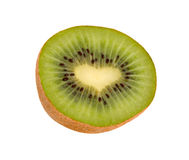 Section of kiwi fruit with heart-like middle Stock Photo