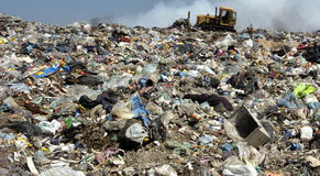 A section of a landfill located in Sofia, Bulgaria. Stock Photo