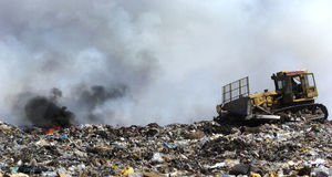 A section of a landfill located in Sofia, Bulgaria. Stock Images