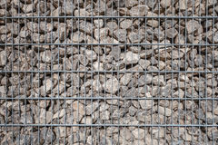 Section of a large gabion Stock Photos