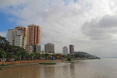 Section of the Malecon 2000 in Guayaquil, Ecuador. View of the northern part of the Malecon 2000, apartments and the riverfront near the center of Guayaquil Royalty Free Stock Photo
