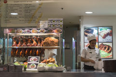 Section meal with duck, pork, soups, noodles in Siam Paragon Mall.  Bangkok. Thailand Royalty Free Stock Photos