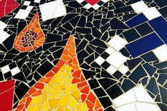 Section of multicolored mosaic tiles Stock Image