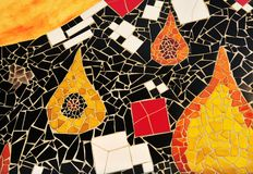 Section of multicolored mosaic tiles Royalty Free Stock Image