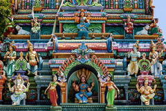 A section of the Naga Pooshani Ambal Kovil on Nainativu Island in the Jaffna region of Sri Lanka. The temple is dedicated to the Hindu goddess Ambal Stock Image