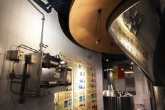 Section Of The New Story Of Beer In The Belgian Beer Museum, Located In Grand Place. Royalty Free Stock Photography