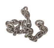 Section of old metal chain isolated. Stock Photography