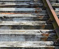 Section of old railway sleepers Royalty Free Stock Photos