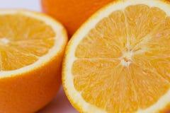 Section orange de fruit Photos stock
