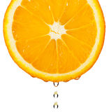 Section orange with drop Royalty Free Stock Photos