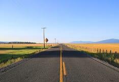 Scenic highway in Ft Klamath, Oregon. stock image