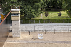 East-West Berlin Original Border Section Stock Image