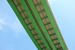 Section of overhead highway road bridge Royalty Free Stock Image