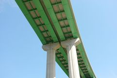 Section of overhead highway road bridge Royalty Free Stock Photography