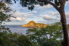 Beautiful ocean view. Section of Playa redonda in Nicaragua viewed thru the jungle canopy Stock Image