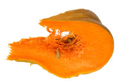 Section of pumpkin Stock Images