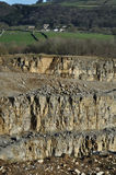Section of quarry in Derbyshire, UK Royalty Free Stock Image