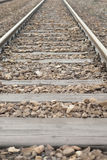 Section of Railway Track. Royalty Free Stock Photo