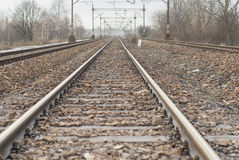 Section of Railway Track. Stock Image