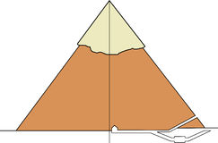 Section of a real pyramid Stock Photos