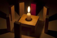 Section recueillant le rituel mystique Photos libres de droits