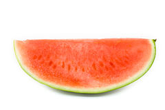 Section of Ripe Sliced Green Watermelon. Royalty Free Stock Photos