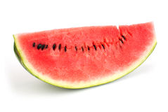Section of Ripe Sliced Green Watermelon Isolated o Royalty Free Stock Photo