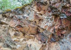Section of rock on Mount Medved royalty free stock photo