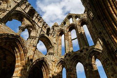 Section of the ruins of Whitby Abbey Royalty Free Stock Photo