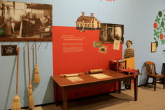 Section of Shaker exhibit, describing the daily life of the group, State Museum,Albany,New York,2016 Stock Photography