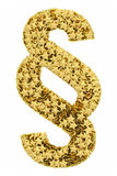 Section sign composed of golden Royalty Free Stock Photo