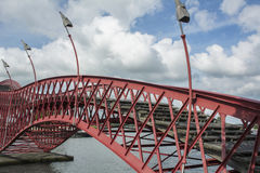 Section of sinuous pedestrian bridge Python Royalty Free Stock Photo