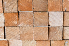 The section of square logs Royalty Free Stock Photos