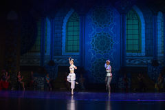 """A section of the story- ballet """"One Thousand and One Nights"""" Royalty Free Stock Images"""