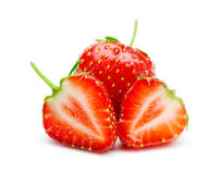 Section strawberries Royalty Free Stock Photo