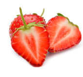 Section strawberries Stock Photo
