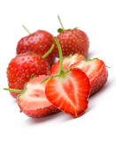 Section strawberries Stock Photos