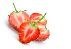 Section strawberries Royalty Free Stock Photography