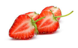 Section strawberries Royalty Free Stock Image