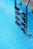 Section of Swimming Pool. Close up of a clear swimming pool taken in vertical format Royalty Free Stock Photos