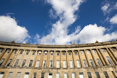Royal Crescent and sky Royalty Free Stock Photos