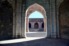 Baz Bahadur palace in Mandu. A section of 15th century palace of prince Baz Bahadur in Mandu MP India stock images